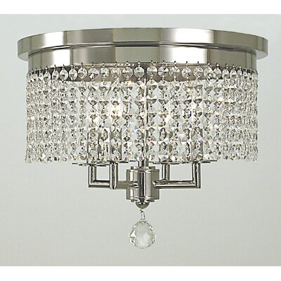 Princessa 4-Light Flush Mount Finish: Polished Silver