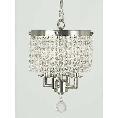 Princessa 4-Light Pendant Finish: Polished Silver