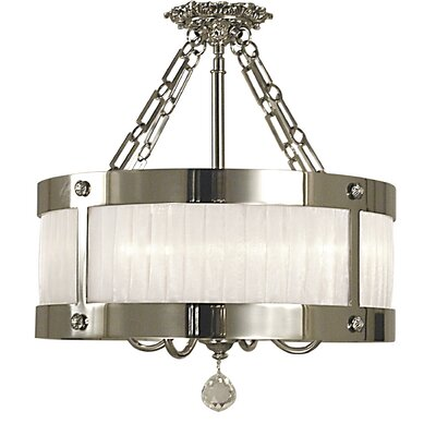 Angelique 4-Light Semi Flush Mount Finish: Polished Silver
