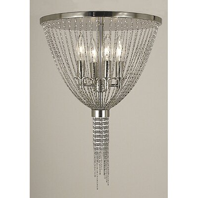 Arabesque 4-Light Semi Flush Mount Finish: Siena Bronze