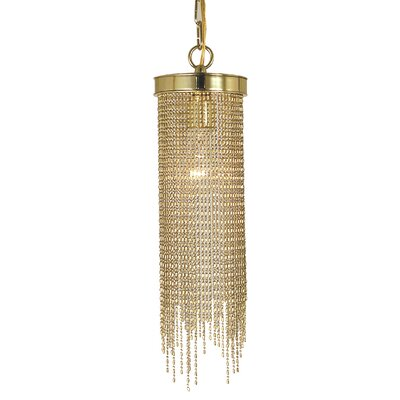 Arabesque 1-Light Mini Pendant Finish: Polished Brass