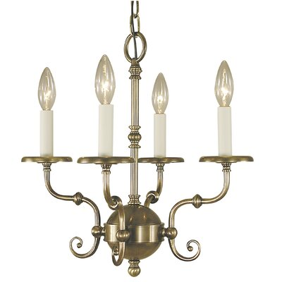 Jamestown 4-Light Candle-Style Chandelier Color: Siena Bronze