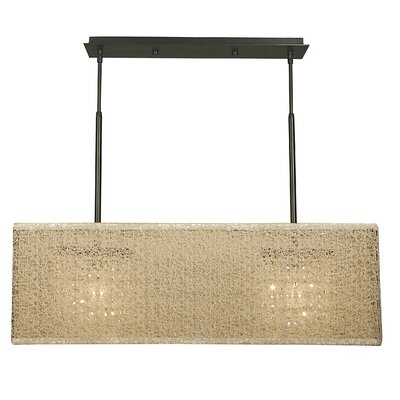 Chloe 2-Light Kitchen Island Pendant Color: Mahogany Bronze, Shade Color: Black