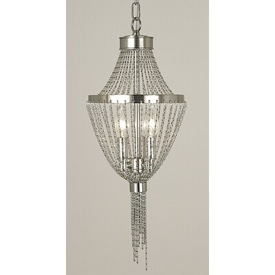 Arabesque 3-Light Foyer Pendant Finish: Polished Silver