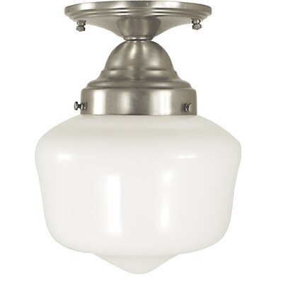 Taylor 1-Light Semi Flush Mount Color: Antique Brass