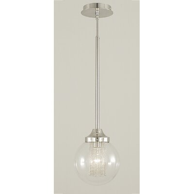 Moderne 1-Light Globe Pendant