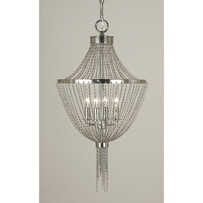 Arabesque 4-Light Pendant Finish: Polished Silver