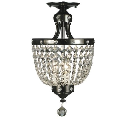 Princessa 3-Light Semi Flush Mount