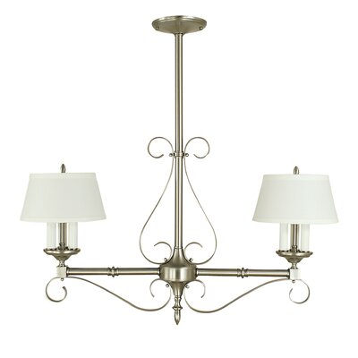 Taylor 6-Light Kitchen Island Pendant Finish: Brushed Nickel with Opaque White Shade