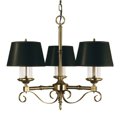 Taylor 9-Light Shaded Chandelier Finish: Mahogany Bronze, Shade Color: Black