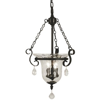 Carcassonne 3-Light Foyer Pendant Color: Matte Black