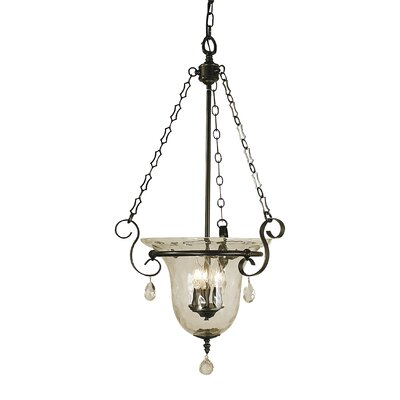Carcassonne 3-Light Candle-Style Chandelier Finish: Matte Black
