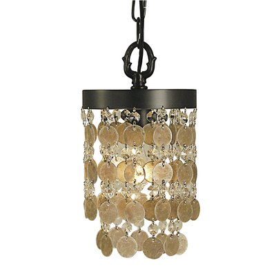 Naomi 1-Light Mini Pendant Color: Mahogany