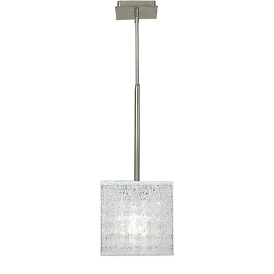Chloe 1-Light Mini Pendant Finish: Polished Silver, Shade Color: White