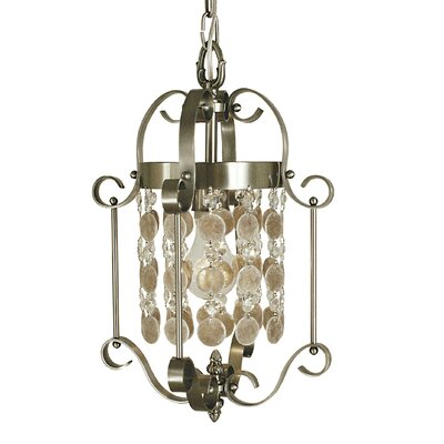 Naomi 1-Light Foyer Pendant Finish: Brushed Nickel