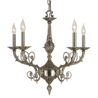 Napoleonic 5-Light Candle-Style Chandelier Finish: Antique Silver