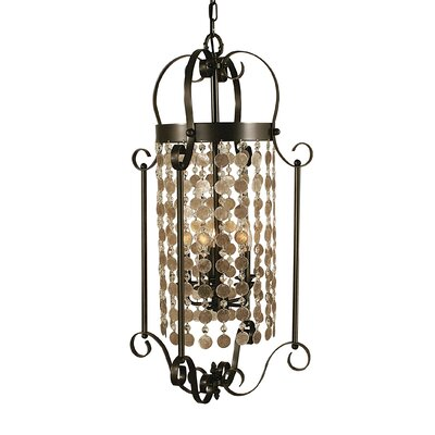 Naomi 5-Light Foyer Pendant Color: Mahogany Bronze