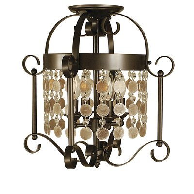 Naomi 4-Light Semi Flush Mount Finish: Brushed Nickel