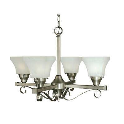 Taylor 4-Light Shaded Chandelier Finish: Polished Nickel
