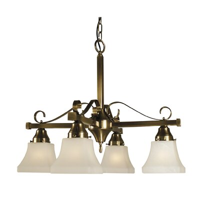 Taylor 4-Light Shaded Chandelier Finish: Brushed Nickel