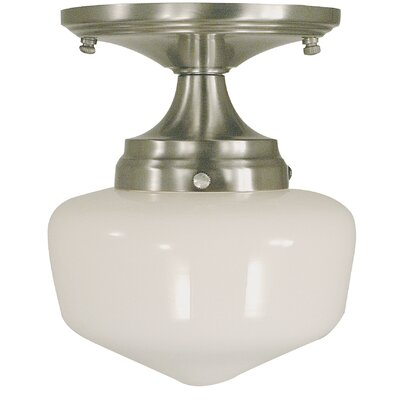 Taylor 1-Light Semi Flush Mount Finish: Brushed Nickel