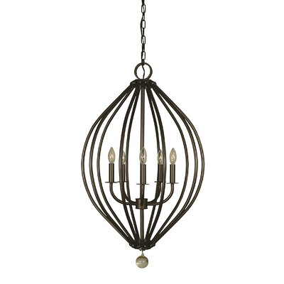 Dewdrop 5-Light Foyer Pendant Color: Antique Brass