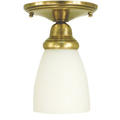 Taylor 1-Light Semi Flush Mount Finish: Mahogany Bronze