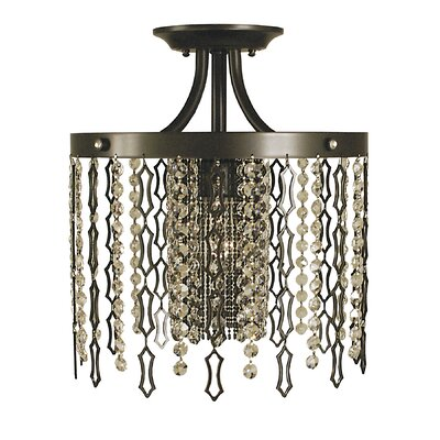 Penelope 1-Light Semi Flush Mount Finish: Brushed Nickel