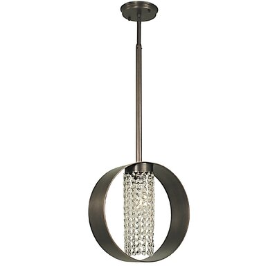Gemini 1-Light Mini Pendant Finish: Mahogany Bronze, Crystal Color: Clear