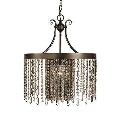 Penelope 4-Light Pendant Color: Brushed Nickel