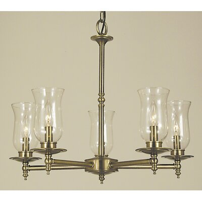 Sheraton 5-Light Candle-Style Chandelier Finish: Polished Brass