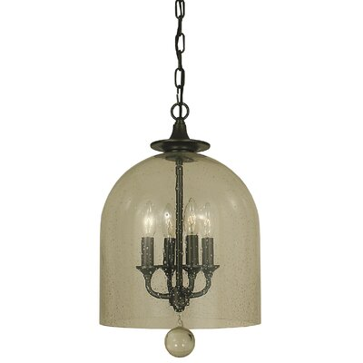 Hannover 4-Light Bowl Pendant Color: Mahogany Bronze