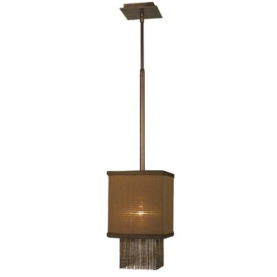 Gymnopedie 1-Light Mini Pendant Finish: Satin Brass, Shade Color: Chocolate