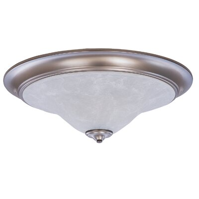Black Forest 3-Light Flush Mount Shade Color: White