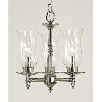 Sheraton 3-Light Shaded Chandelier Finish: Polished Brass