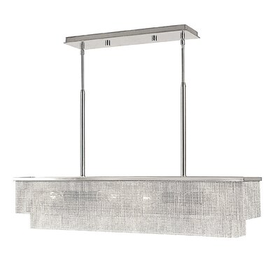 Gymnopedie 4-Light Kitchen Island Pendant Finish: Polished Silver