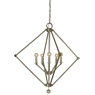 Diamond 5-Light Foyer Pendant Finish: Polished Nickel