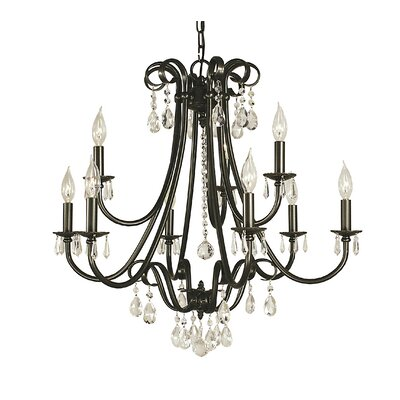 Liebestraum 9-Light Candle-Style Chandelier Color: Brushed Nickel