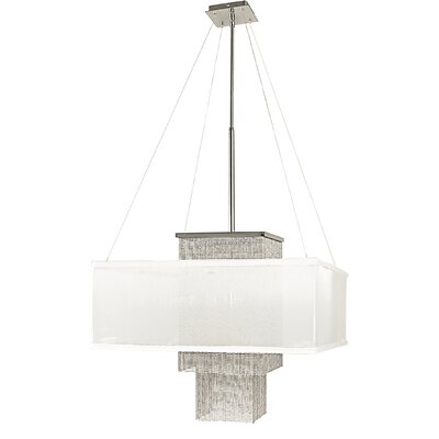 Gymnopedie 1 Light Mini Chandelier Finish: Siena Bronze, Shade Color: White Sheer, Size: 19 H x 22 W x 22 D