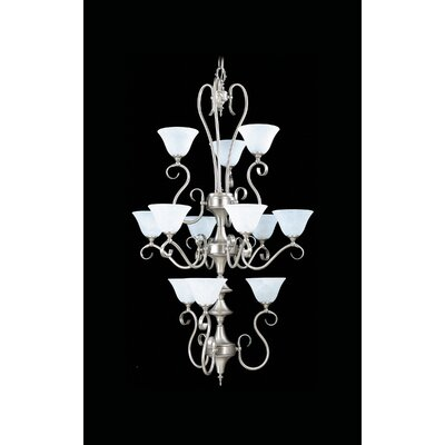 Black Forest 12-Light Shaded Chandelier