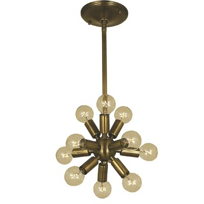 Simone 11-Light Mini Pendant Color: Brushed Nickel