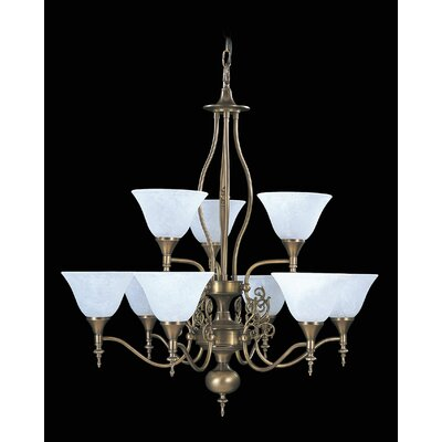 Black Forest 9-Light Shaded Chandelier