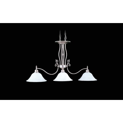 Black Forest 3-Light Kitchen Island Pendant Shade Color: White