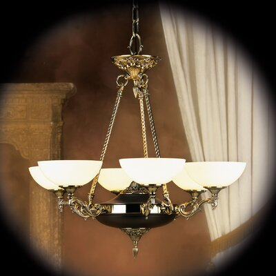 Napoleonic 6-Light Shaded Chandelier