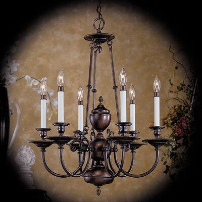 Kensington 6-Light Candle-Style Chandelier Finish: Venetian Bronze