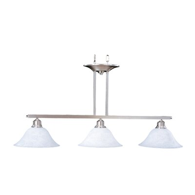 Bellevue 3-Light Kitchen Island Pendant Finish: Brushed Stainless / Polished Nickel