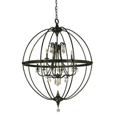 Compass 9-Light Globe Pendant Color: Matte Black
