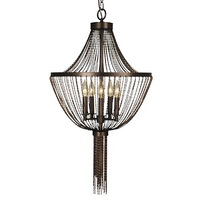Guinevere 5-Light Candle-Style Chandelier Finish: Polished Silver