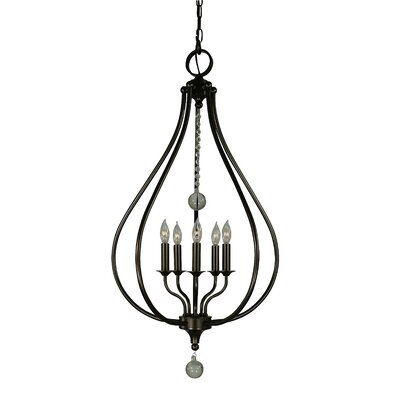 Dewdrop 5-Light Foyer Pendant Finish: Antique Brass