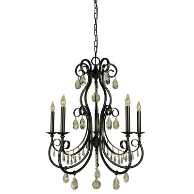 Contessa 5-Light Candle-Style Chandelier Finish: Polished Nickel